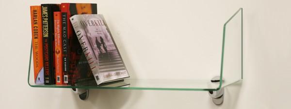 8 x 24 glass book  shelf - book nook