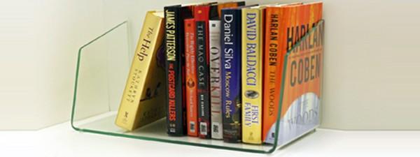 8 x 30 free standing glass shelf - book nook