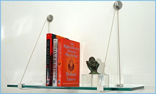 hanging glass shelf