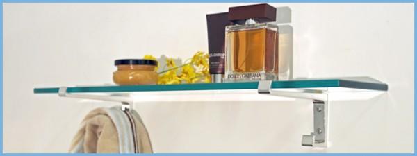 Hawk Glass Bathroom Shelf
