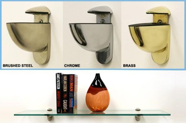 Heron Glass Shelf Supports and Brackets