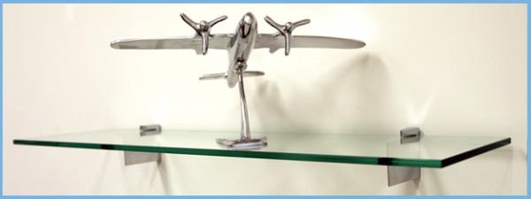raven modern glass shelving
