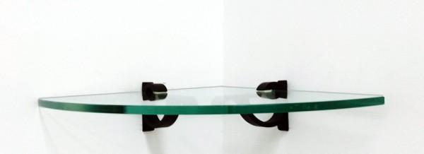 Monarch Corner Glass Shelves - 2 Brackets Included with Each Shelf