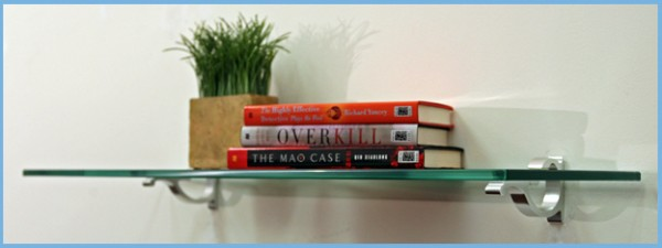"4 3/4"" x 18"" Monarch Glass Shelf with Bracket"