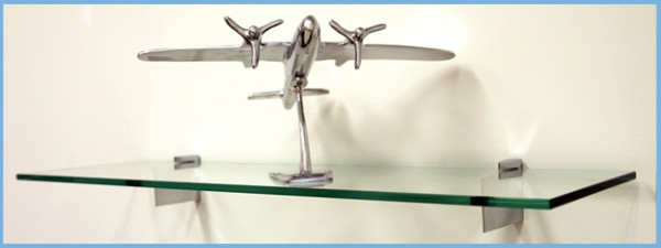 "Raven Glass Shelf 10"" x 42"""