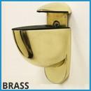 brass floating shelf brackets