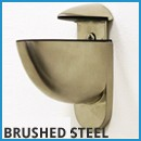 Heron Brushed Steel Brackets