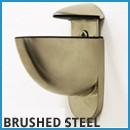 brushed steel floating shelf brackets
