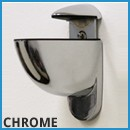 chrome floating shelf brackets