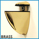 Frosted Glass Shelf - Brass