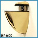 Corner Shelf Bracket - Brass