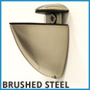Frosted Glass Shelf - Brushed Steel