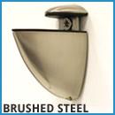 peacock brushed steel shelf bracket
