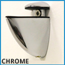 Frosted Glass Shelf - Chrome