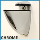 Chrome Shelf Glass Frosted
