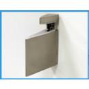 modern shelf bracket - brushed steel