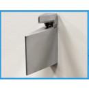 modern shelf bracket - chrome