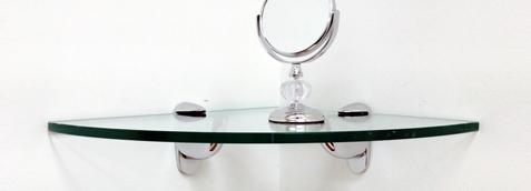 Heron Corner Glass Shelves