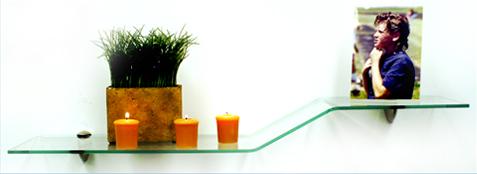 Sparrow Bent Glass Shelves
