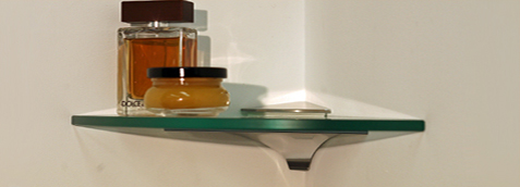 Wren Corner Glass Shelves